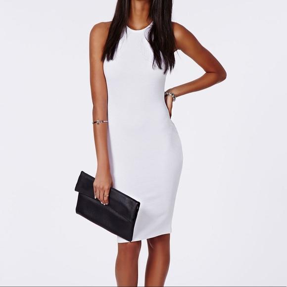 0fede38beb NWT Zara White Ribbed Midi Dress NWT